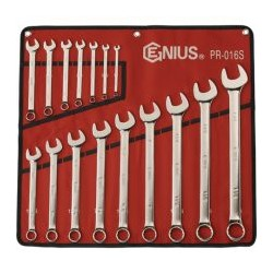 Genius Tools PR-016S 16PC SAE Combination Wrench Set