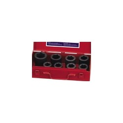 Genius Tools CM-808M 8PC 1 Inch Dr. Metric Impact Socket Set