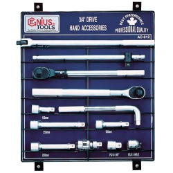 "Genius Tools AC-612 12PC 3/4"" Dr. Accessories Display Board"