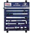 "Genius Tools AC-612 12PC 3/4"" Dr. Accessories Display Board"