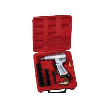 "Genius Tools TF-316S1 16PC 3/8"" Dr. SAE Impact Wrench Set 160ft-lb/217 Nm"