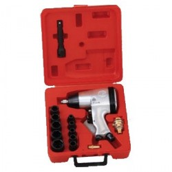 "Genius Tools TF-416K1 16PC 1/2"" Dr. Metric Impact Wrench Set 230 ft-lb"