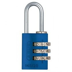 145/20 C Abus Aluminum 3-Dial Resettable Combination Padlock