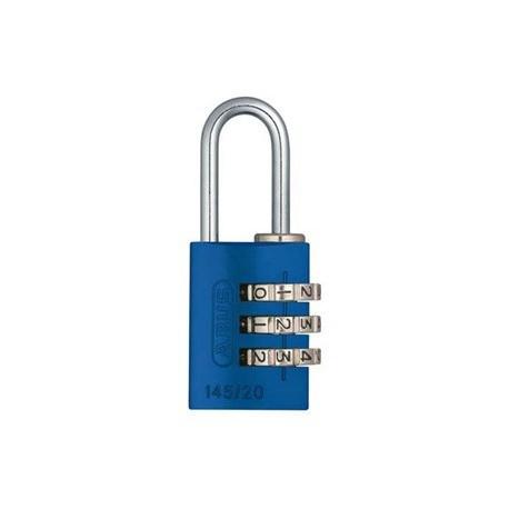 145/20 C Abus Aluminum 3-Dial Resettable Combination Padlock