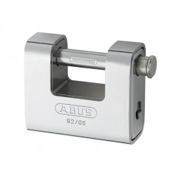 92/65 Abus Solid Brass with Steel Jacket Monoblock