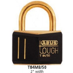 T84MB/50 Abus Black Gold Solid Brass Padlock