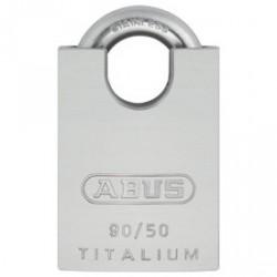 Abus 90TI/50 Titalium Aluminum & Titanium Shrouded Heavy Duty Padlock (89540)