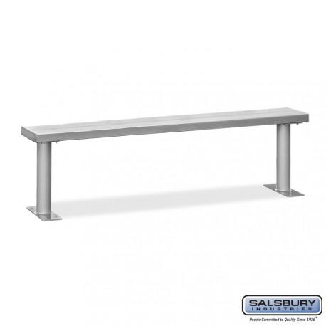 Salsbury 8' Aluminum Locker Bench