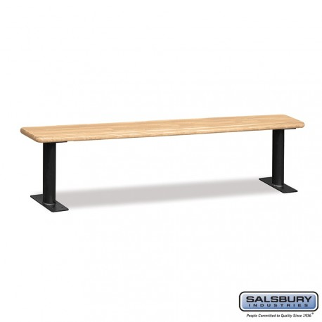 Salsbury 4' Wood Locker Bench