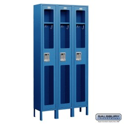 Salsbury Assembled See Through Metal Locker Three Wide