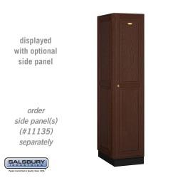 Salsbury Solid Oak Executive Wood Locker - Single Tier - 1 Wide - 6 Feet High