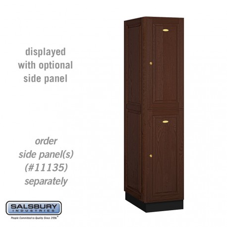 Salsbury Solid Oak Executive Wood Locker - Double Tier - 1 Wide - 6 Feet High