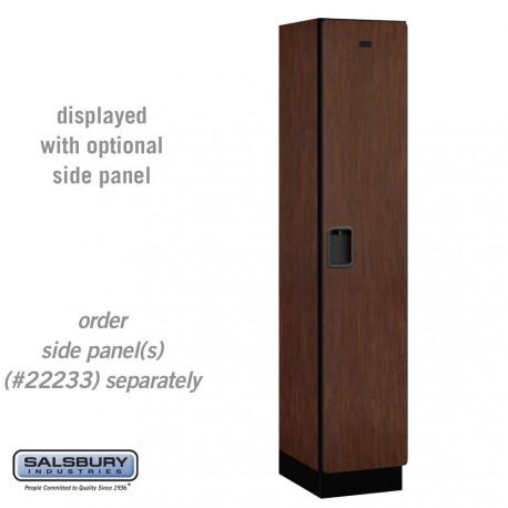 Salsbury Extra Wide Designer Wood Locker - Single Tier - 1 Wide - 6 Feet High