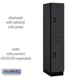 Salsbury Extra Wide Designer Wood Locker - Double Tier - 1 Wide - 6 Feet High