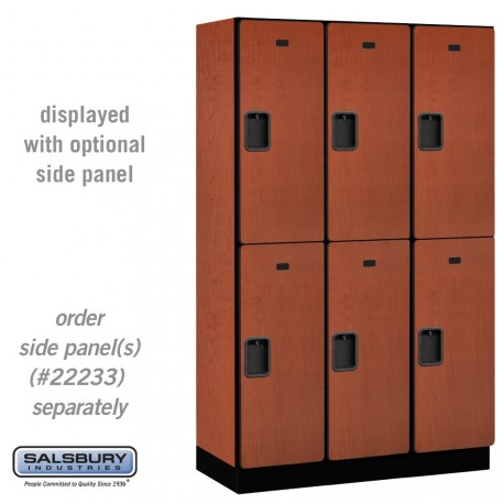 "Salsbury 15"" Extra Wide Designer Wood Locker - Double Tier - 3 Wide - 6 Feet High"