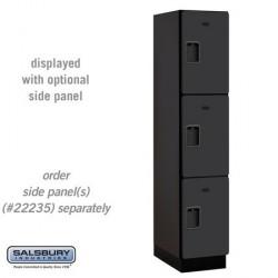 Salsbury Extra Wide Designer Wood Locker - Triple Tier - 1 Wide - 6 Feet High