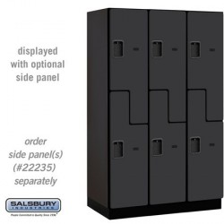 "Salsbury Extra Wide Designer Wood Locker - Double Tier ""S"" Style - 3 Wide"