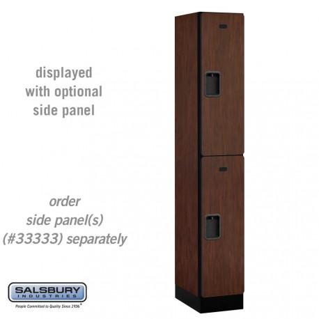 Salsbury Designer Wood Locker - Double Tier - 1 Wide - 6 Feet High