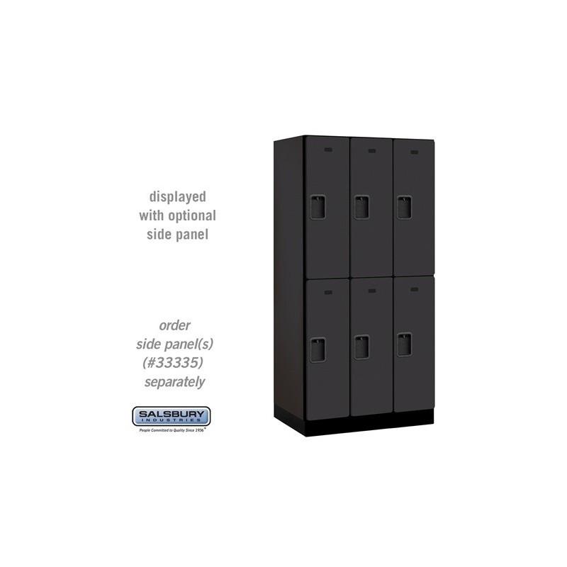 Salsbury designer wood locker double tier 3 wide 6 for Designer lockers