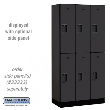 Salsbury Designer Wood Locker - Double Tier - 3 Wide - 6 Feet High