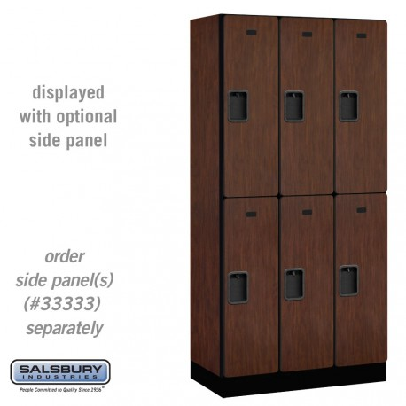Salsbury Designer Wood Locker - Double Tier - 3 Wide - 6 Feet High