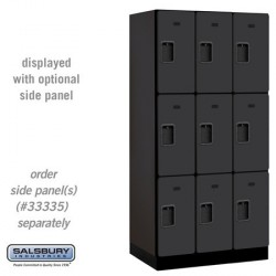 Salsbury Designer Wood Locker - Triple Tier - 3 Wide - 6 Feet High