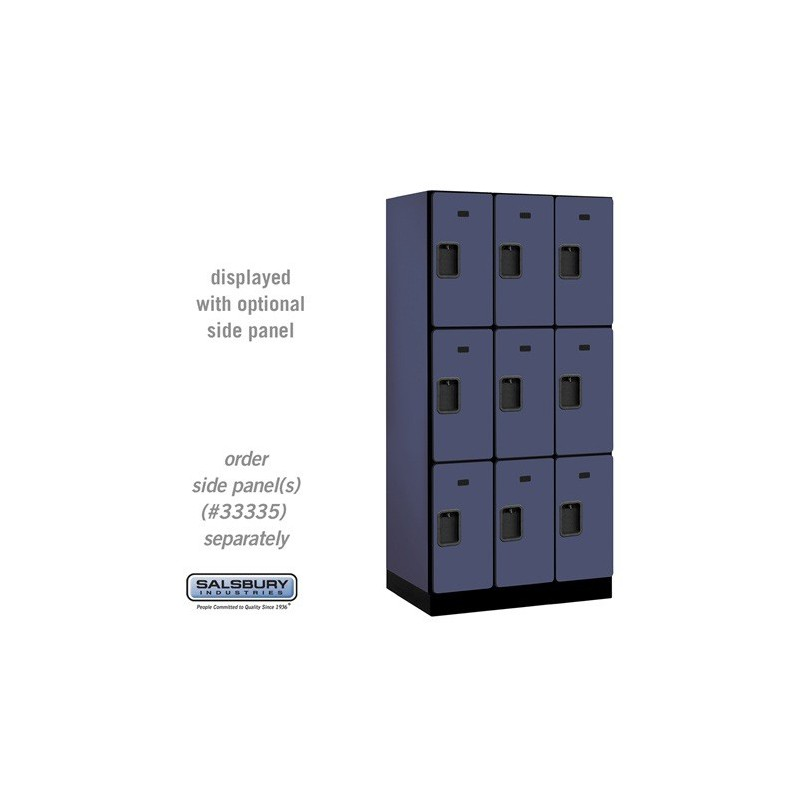 Salsbury designer wood locker triple tier 3 wide 6 Designer lockers