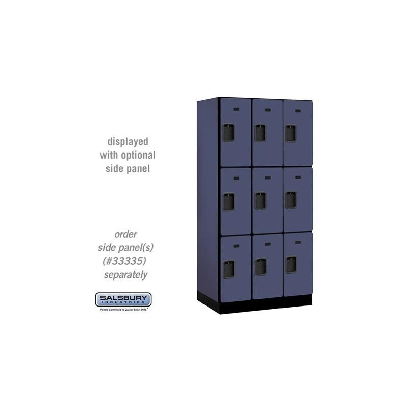 Salsbury Designer Wood Locker Triple Tier 3 Wide 6
