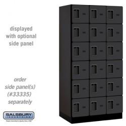 Salsbury Designer Wood Locker - Six Tier Box Style - 3 Wide - 6 Feet High