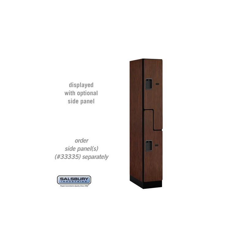 Salsbury designer wood locker double tier s style 1 wide for Designer lockers