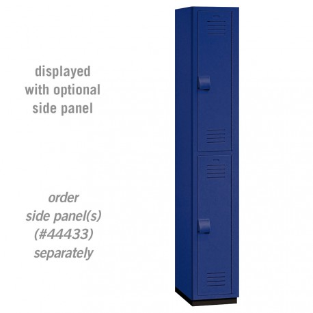 Salsbury Heavy Duty Plastic Locker - Double Tier - 1 Wide - 6 Feet High - 18 Inches Deep