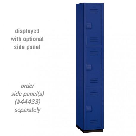 Salsbury Heavy Duty Plastic Locker - Triple Tier - 1 Wide - 6 Feet High - 18 Inches Deep
