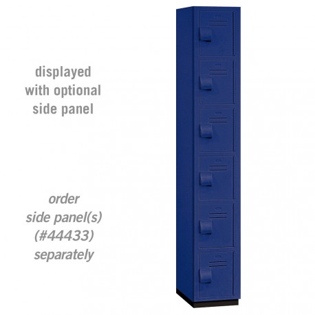 Salsbury Heavy Duty Plastic Locker - Six Tier Box Style - 1 Wide - 6 Feet High - 18 Inches Deep