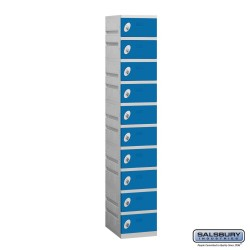 Salsbury Plastic Locker - Ten Tier - 1 Wide - 73 Inches High - 18 Inches Deep
