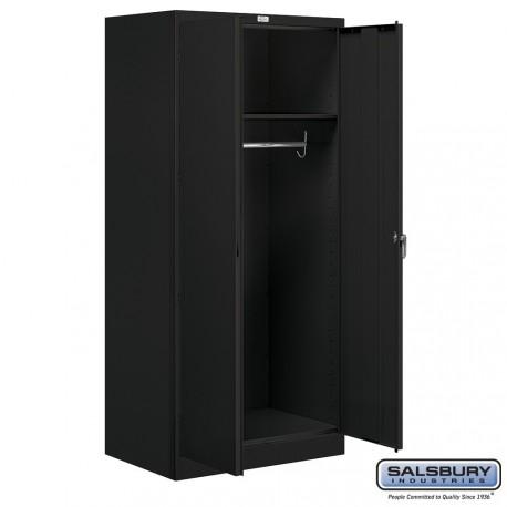 Salsbury storage cabinet wardrobe 78 inches high 24 for Kitchen cabinets 24 inches deep