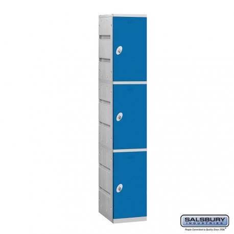 Salsbury Plastic Locker - Triple Tier - 1 Wide - 73 Inches High - 18 Inches Deep