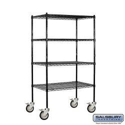Salsbury Wire Cart Mobile Shelving - 36 Inches Wide - 18 Inches Deep
