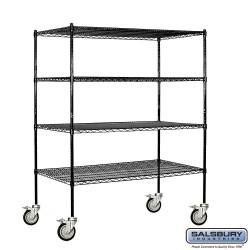 Salsbury Wire Cart Mobile Shelving - 60 Inches Wide - 24 Inches Deep