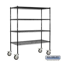 Salsbury Wire Cart Mobile Shelving - 60 Inches Wide - 18 Inches Deep