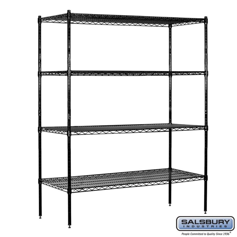 Salsbury Tall Wire Cart Mobile Shelving 60 Inches Wide 18 Inches