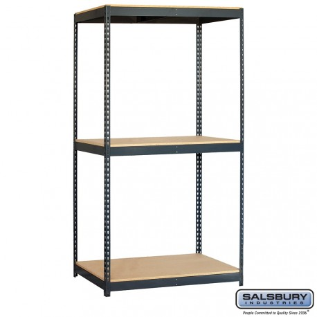 Salsbury Solid Shelving - 48 Inches Wide - 84 Inches High - 24 Inches Deep
