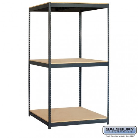Salsbury Solid Shelving - 48 Inches Wide - 84 Inches High - 36 Inches Deep