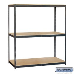 Salsbury Solid Shelving - 72 Inches Wide - 84 Inches High - 24 Inches Deep