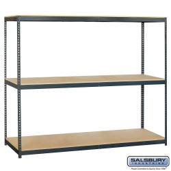 Salsbury Solid Shelving - 96 Inches Wide - 84 Inches High - 24 Inches Deep