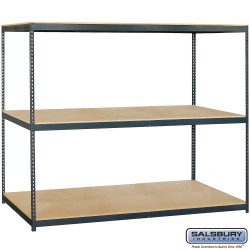 Salsbury Solid Shelving - 96 Inches Wide - 84 Inches High - 36 Inches Deep