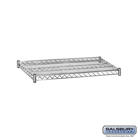 Salsbury Wire Shelving - Additional Shelves for 9544S/9644S and 9544M/9644M - 48 Inches Wide- 24 Inches Deep