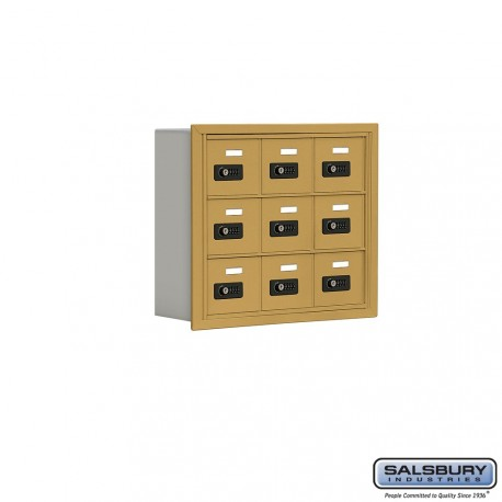 """Salsbury 1913506 Cell Phone Lockers Three Door High, 5"""" Deep Compartments with Front Access Panel"""