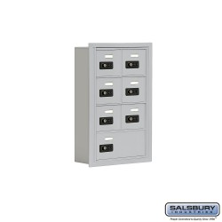"Salsbury 1914507 Cell Phone Lockers Four Door High, 5"" Deep Compartments with Front Access Panel"