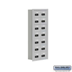 "Salsbury 1917514 Cell Phone Lockers Seven Door High, 5"" Deep Compartments with Front Access Panel"