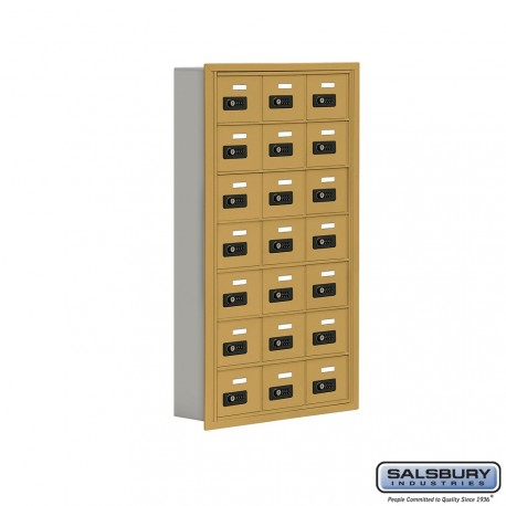 """Salsbury 1917514 Cell Phone Lockers Seven Door High, 5"""" Deep Compartments with Front Access Panel"""